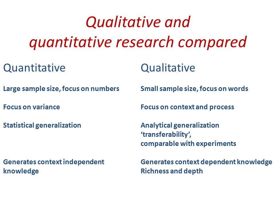 Critiques Fundamental critique to qualitative research Scientific knowledge is context independent One cannot generalize from individual cases Qualitative researchers are involved and biased Pragmatic critique to qualitative research Much work and hard to publish Critiques to quantitative research Artificial, low relevance Not possible to produce general and context independent theory of the social world and human affairs Directions forward Mixed research approaches (many top journals love it) Method is research question dependent