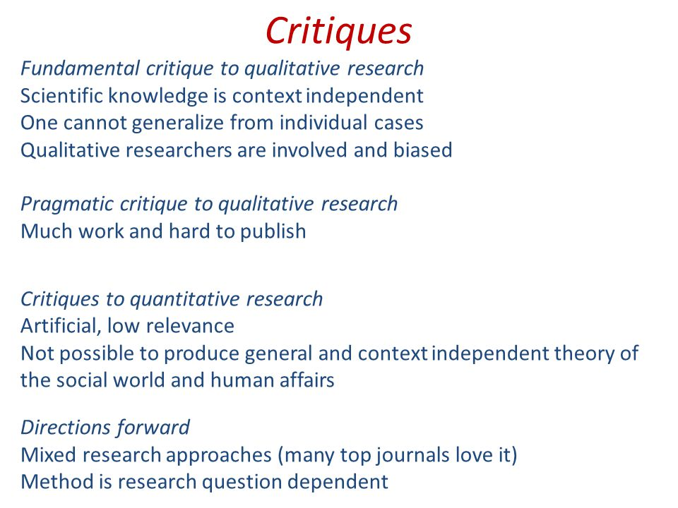Five common problems of qualitative research papers