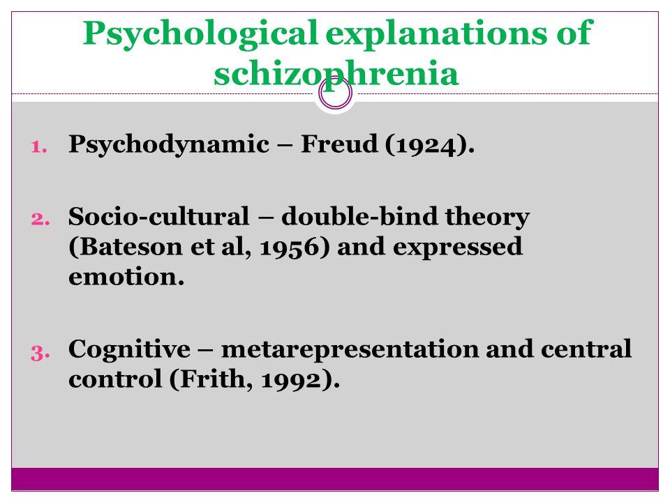 Psychological explanations of schizophrenia 1. Psychodynamic – Freud (1924).