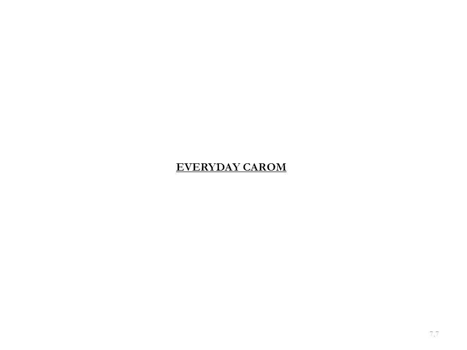 7.7 EVERYDAY CAROM