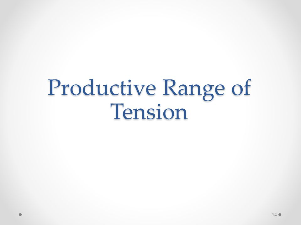 Productive Range of Tension 14