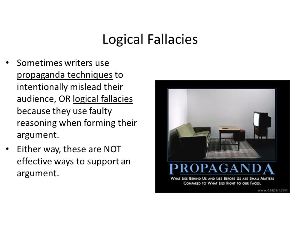 Logical Fallacies or False Analogy