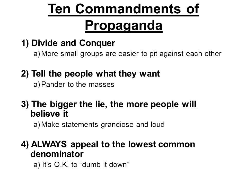 Propaganda Techniques 4. Bandwagon (everyone's doing it)