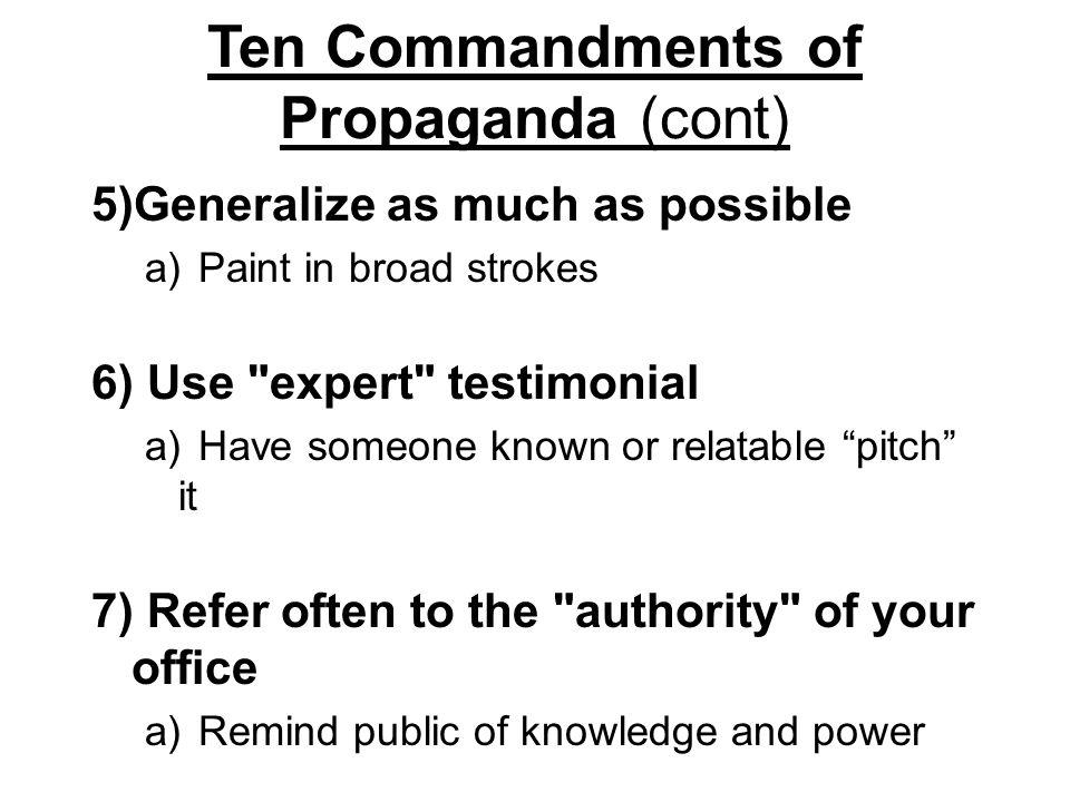 Testimonial Recognizing Propaganda Techniques and Errors of Faulty Logic Propaganda Techniques What are Propaganda Techniques.