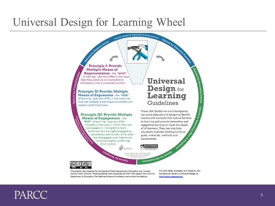 5 Universal Design for Learning Wheel