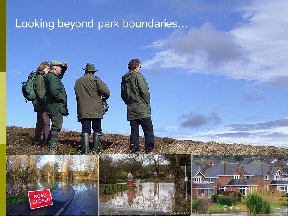 Looking beyond park boundaries…