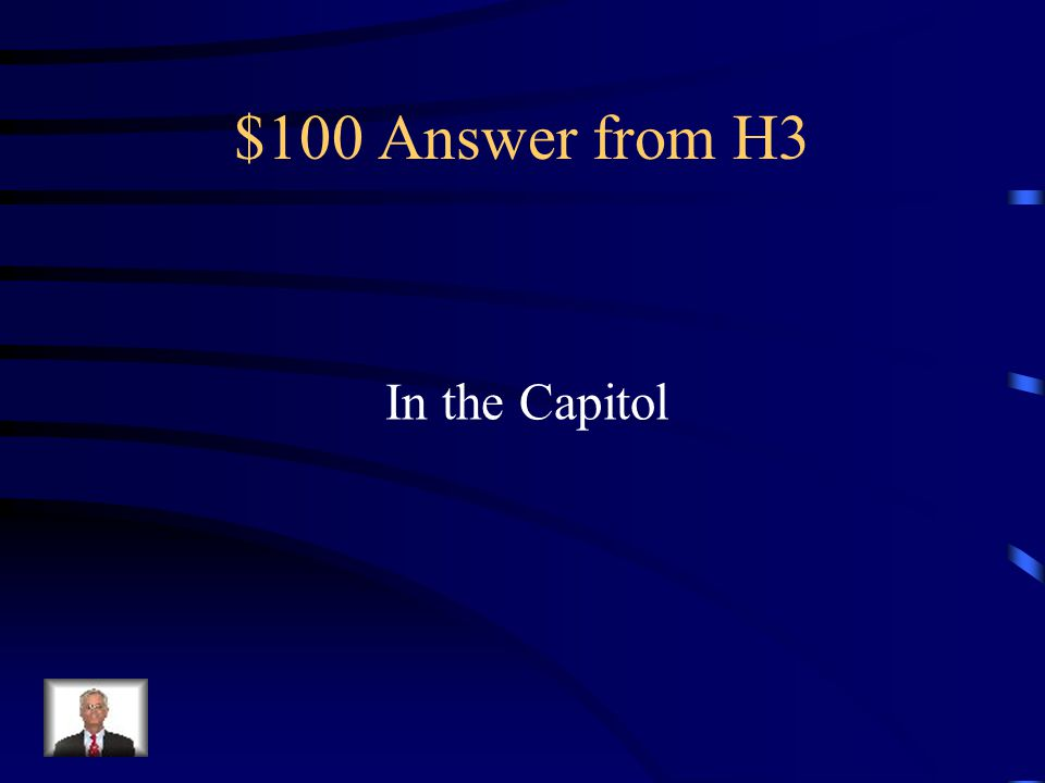 $100 Question from H3 Where was Caesar assassinated