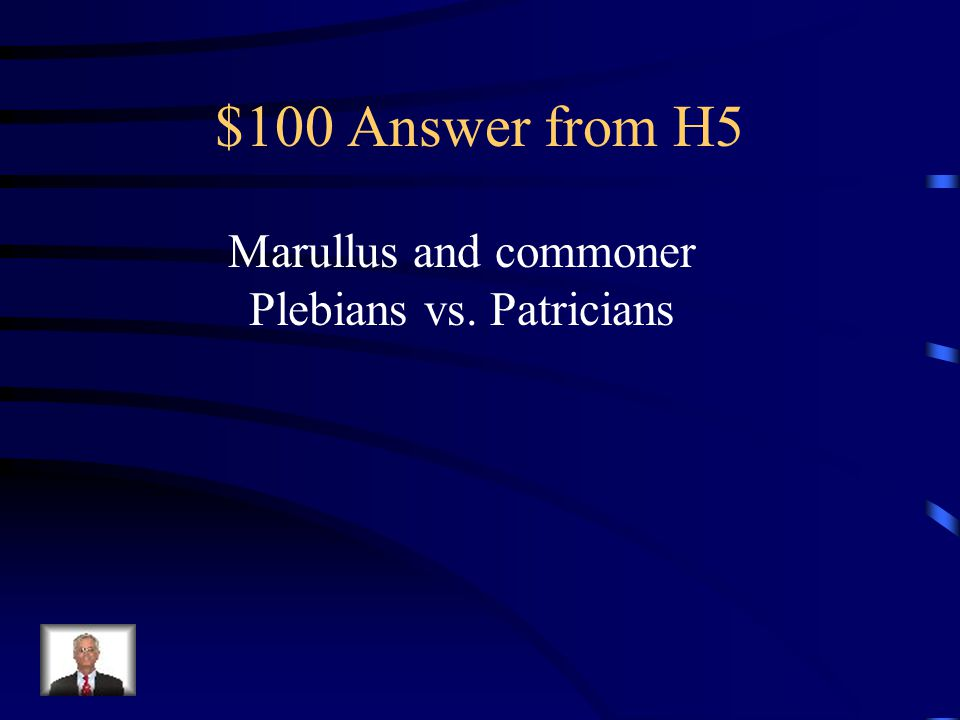 $100 Question from H5 Who is speaking and what's the conflict.