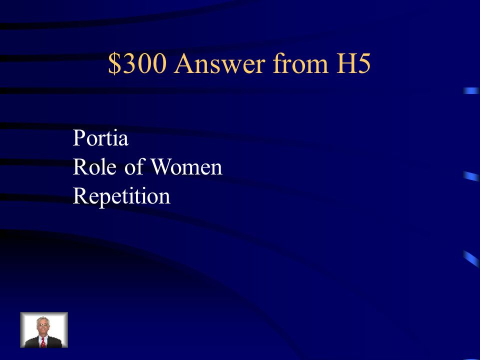 $300 Question from H5 Who is speaking. What's the theme.