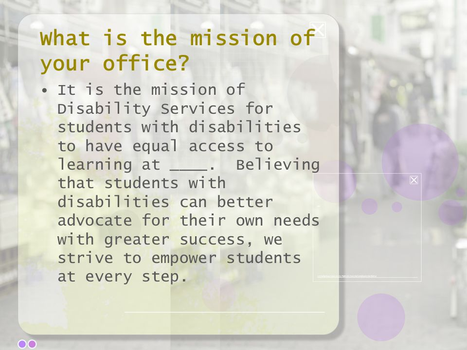 What is the mission of your office.