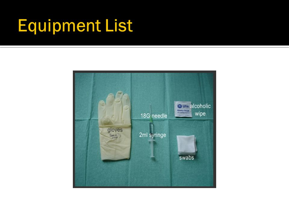  Check identity of patient and contents and expiry date of drugs  Insert needle into syringe, and fill with the required amount of drug.