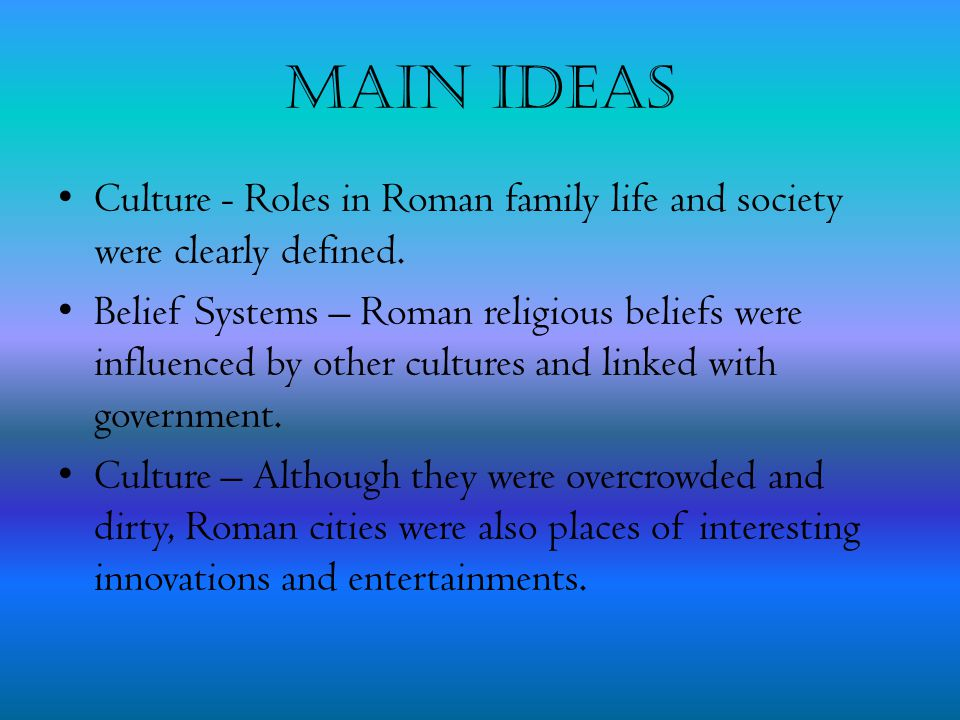 Family and Society Essential Question: How were the family and society organized?
