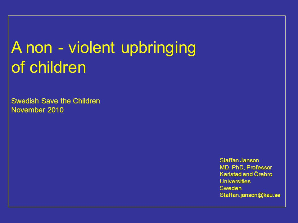 Child abuse in industrialised countries Self-reported: 5 – 35 % of all children in different countries report severe corp.