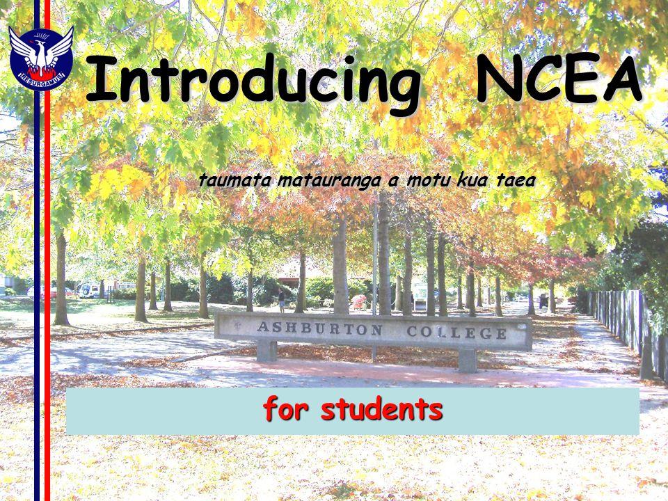 Introducing NCEA taumata matauranga a motu kua taea for students