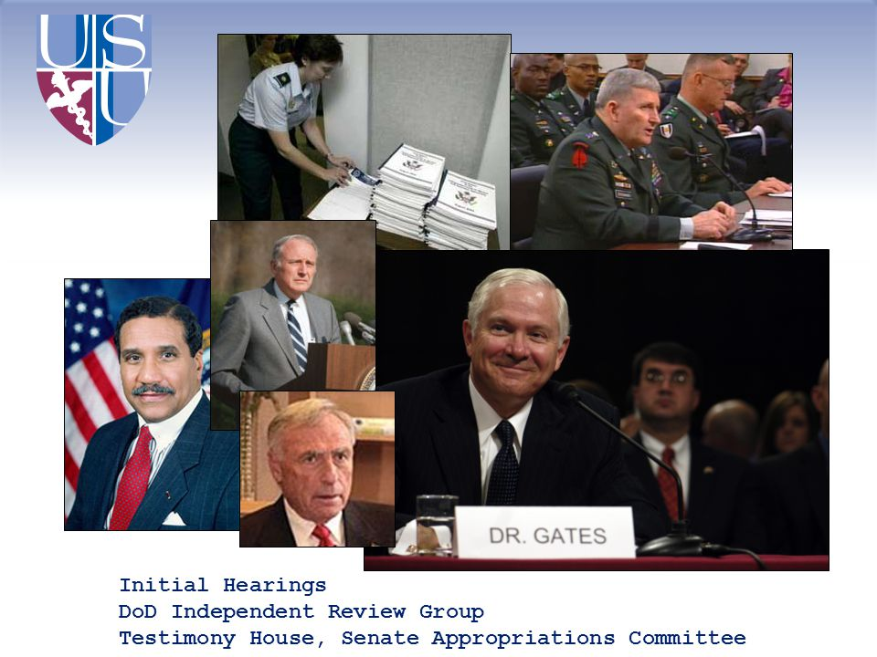 Initial Hearings DoD Independent Review Group Testimony House, Senate Appropriations Committee