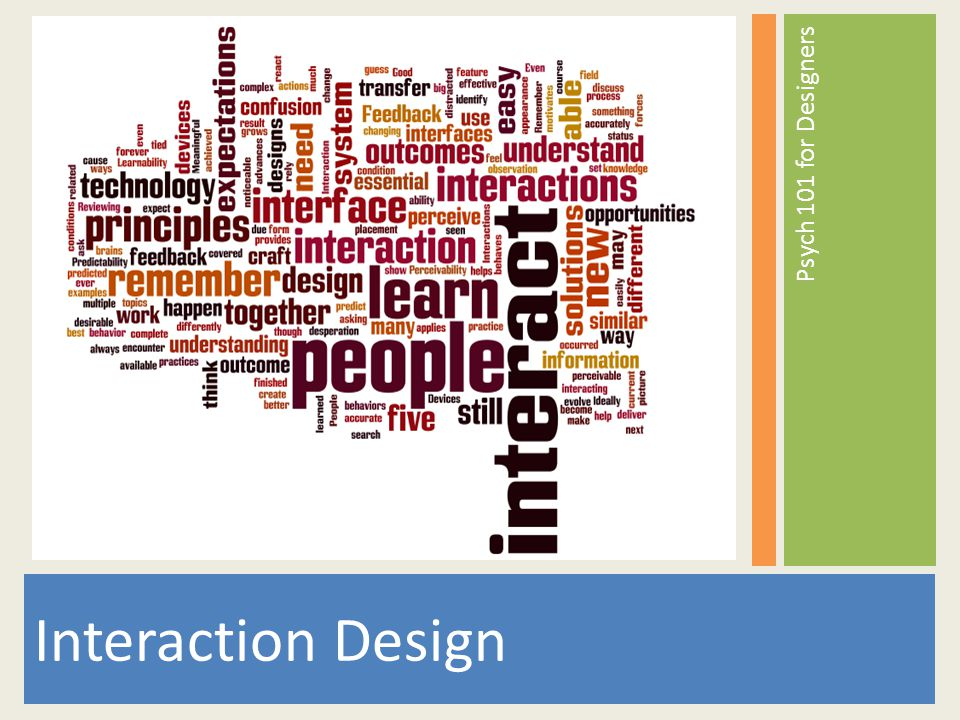 Interaction Design is about people first.What motivates people.