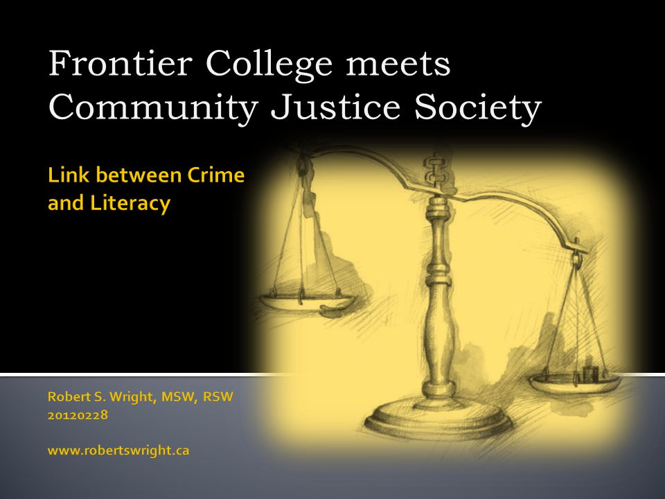 Frontier College meets Community Justice Society