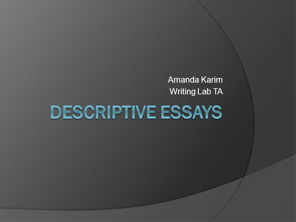 Amanda Karim Writing Lab TA