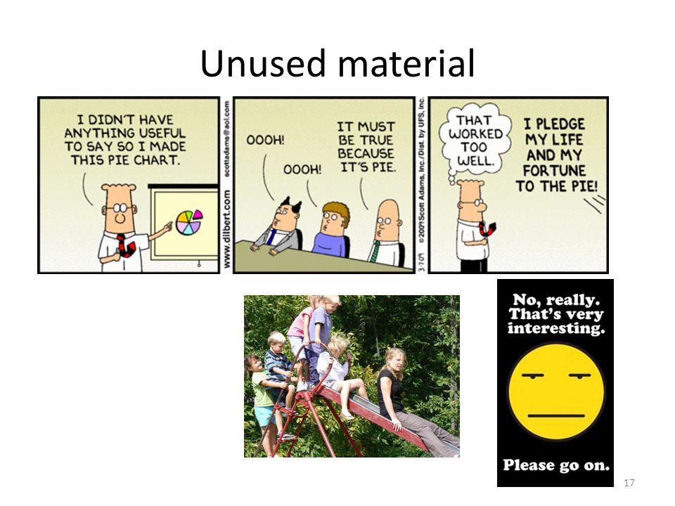 Unused material 17