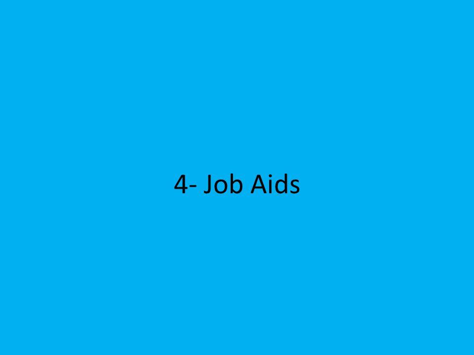 4- Job Aids