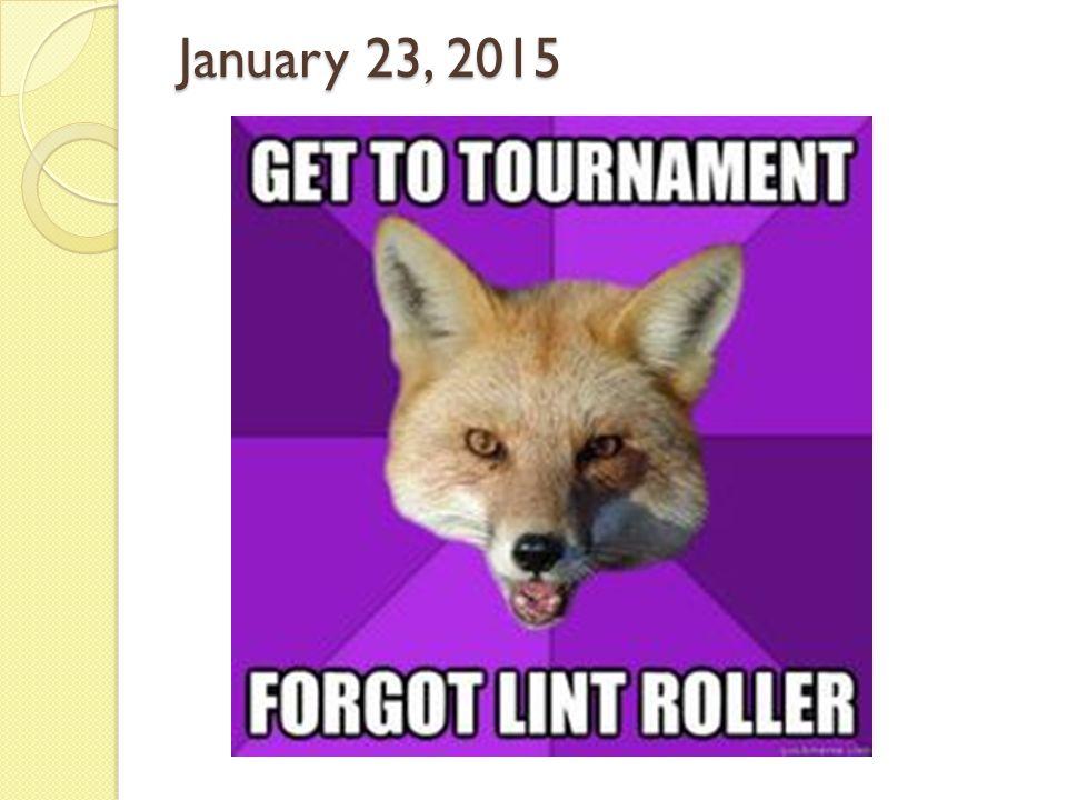 January 23, 2015