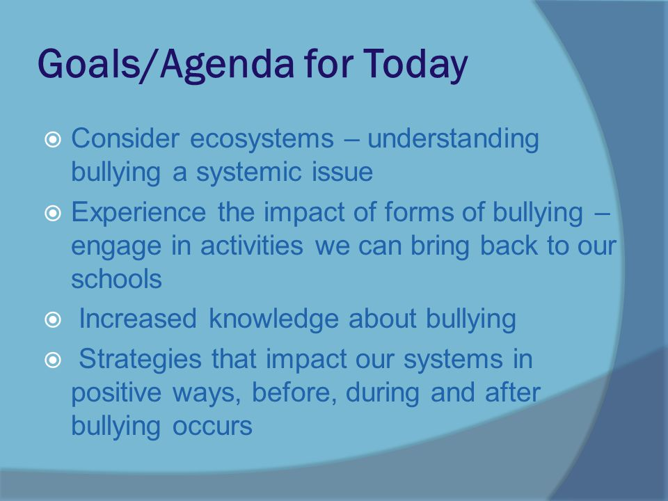 Bullies: Understanding and Addressing Clear deficits in empathy Like generally aggressive children, may have limited problem solving May have learned that bullying pays  Do not require and not responsive to programs to increase self-esteem  Do require extensive intervention to build empathy  Do require clear, consistent consequences for bullying behavior, whether or not empathy is present