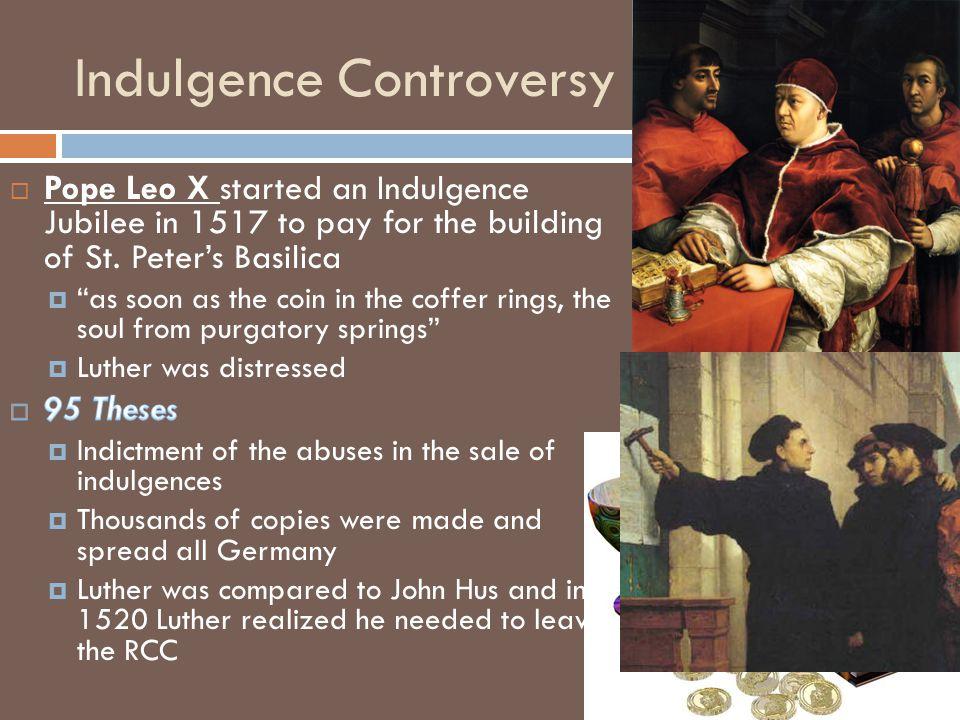 Indulgence Controversy