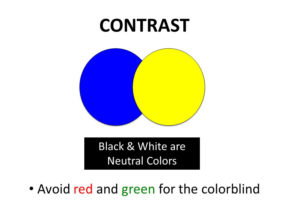 COLOR Use color to attract Not to distract Avoid more than 5 colors per page