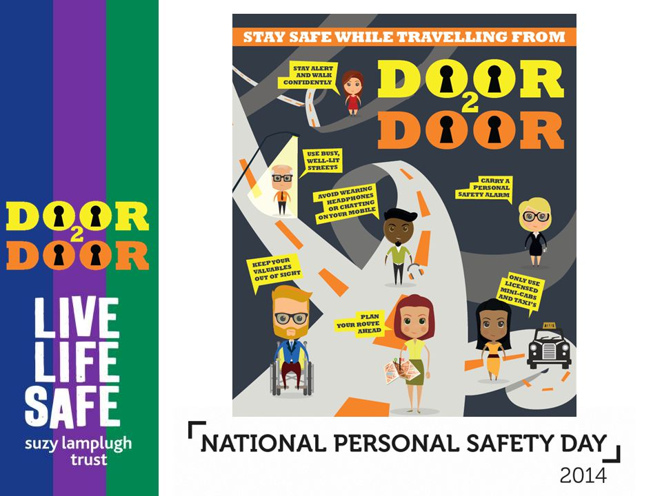 Whether you are leaving your home to go to work, or leaving school to get to a youth centre, we can all take steps to make sure we are safe when we leave one door and arrive at the door of our destination.