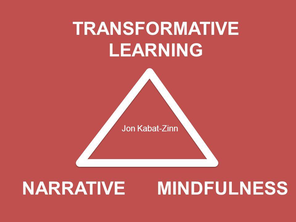 MINDFULNESS TRANSFORMATIVE LEARNING NARRATIVE Jon Kabat-Zinn