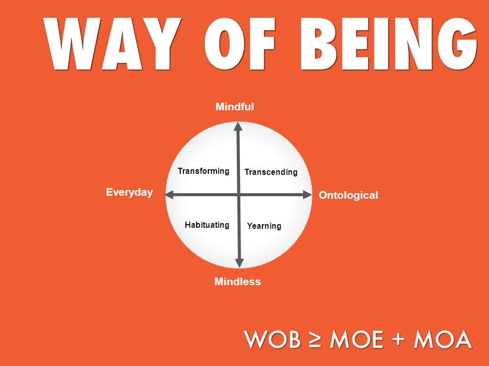 Everyday Ontological Mindful Mindless Transcending Transforming Habituating Yearning