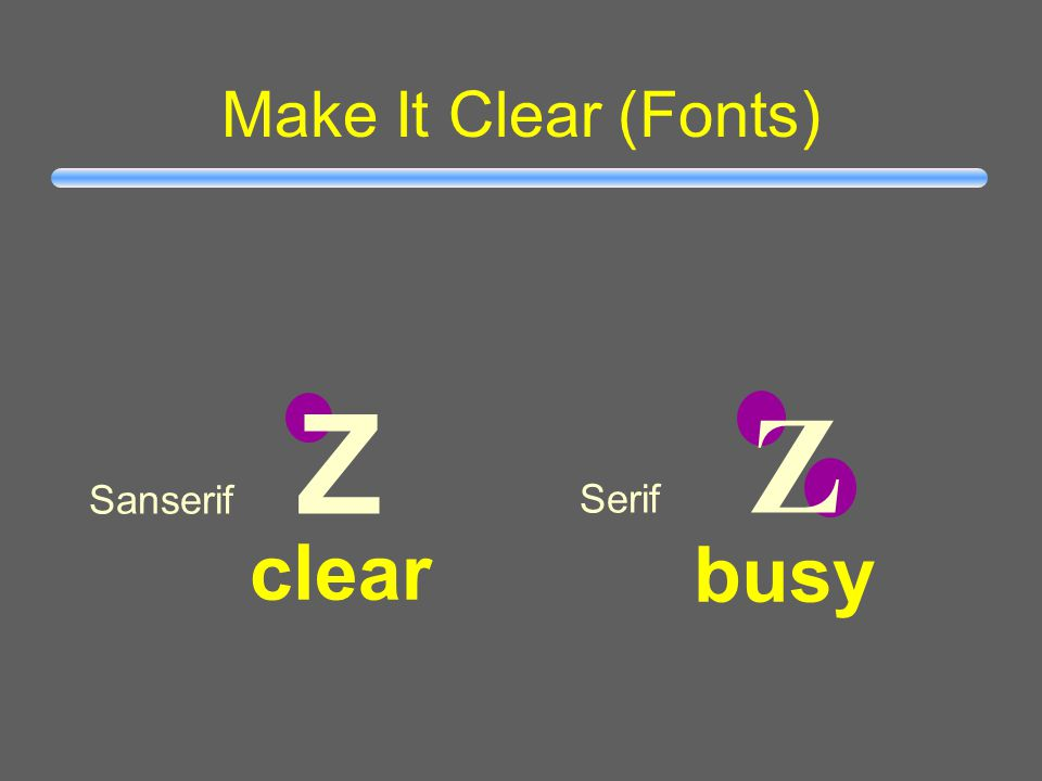 Make It Clear (Capitalisation) ALL CAPITAL LETTERS ARE DIFFICULT TO READ Upper and lower case letters are easier