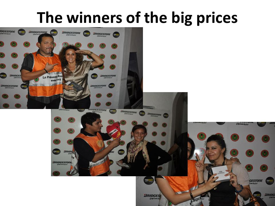 The winners of the big prices