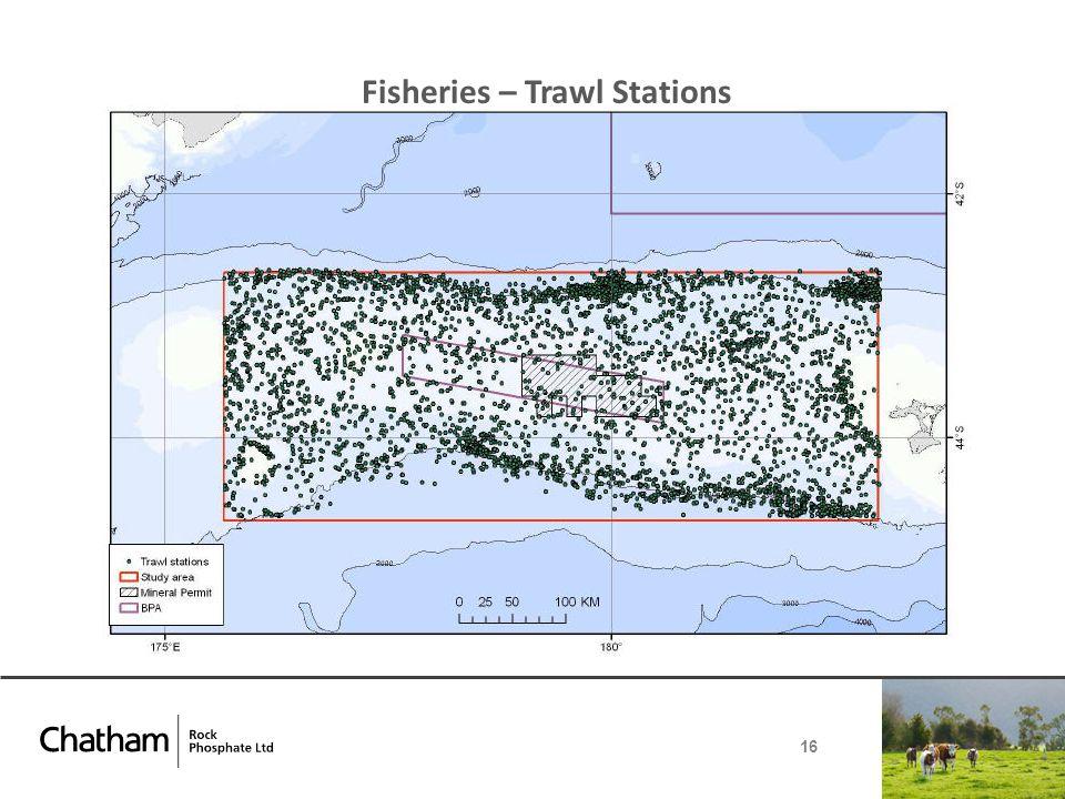 Fisheries – Trawl Stations 16