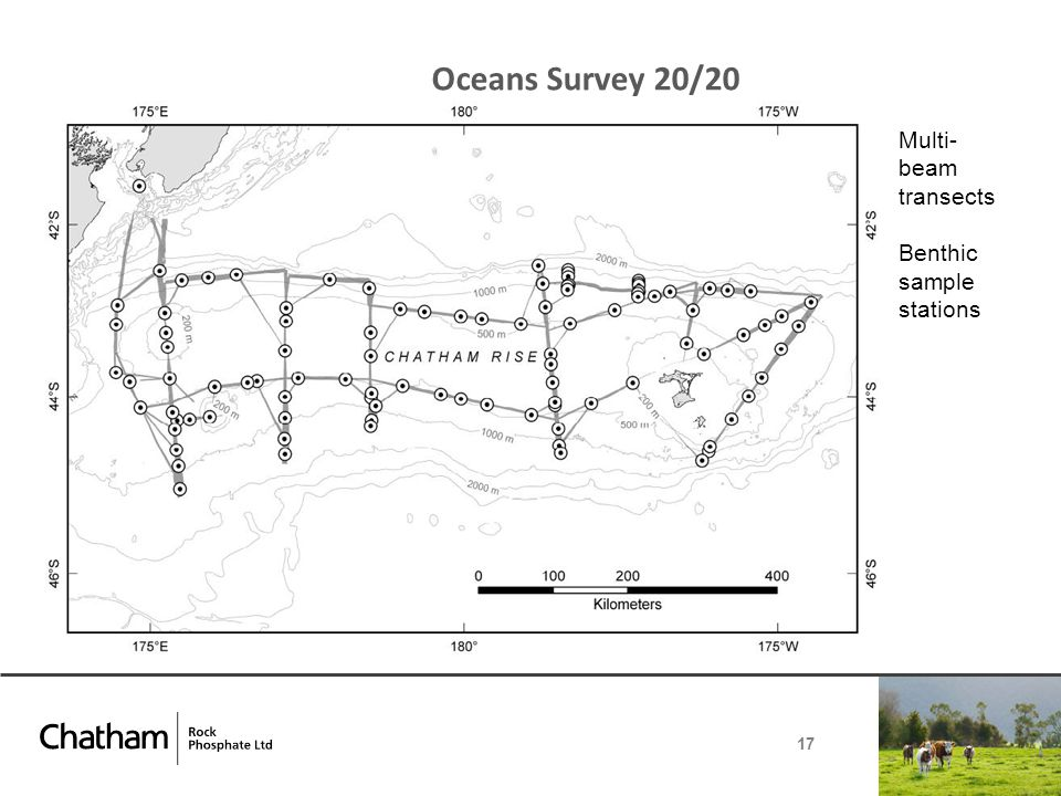 Oceans Survey 20/20 17 Multi- beam transects Benthic sample stations