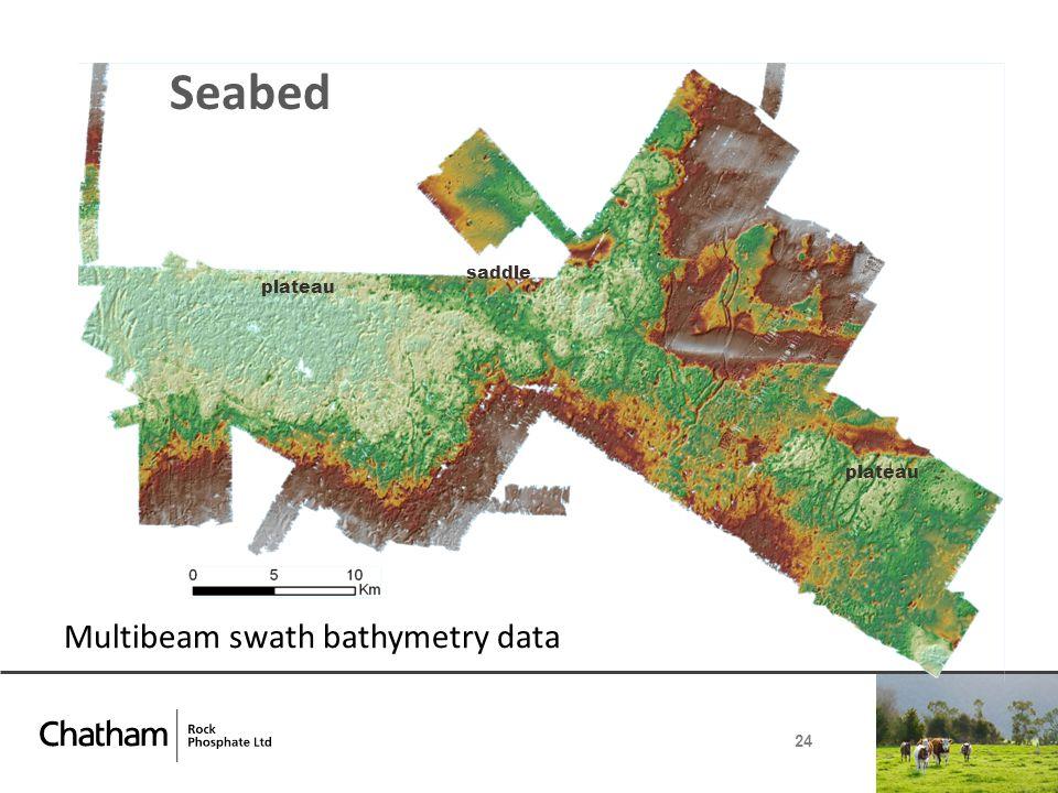 Seabed 24 plateau saddle Multibeam swath bathymetry data