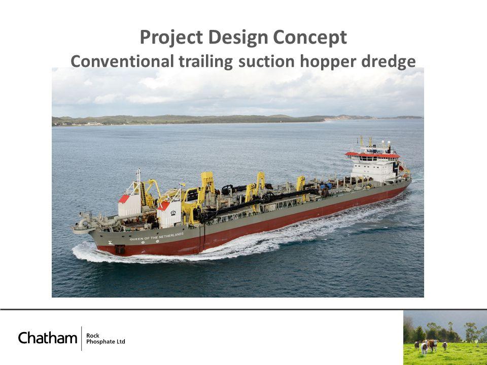 Project Design Concept Conventional trailing suction hopper dredge