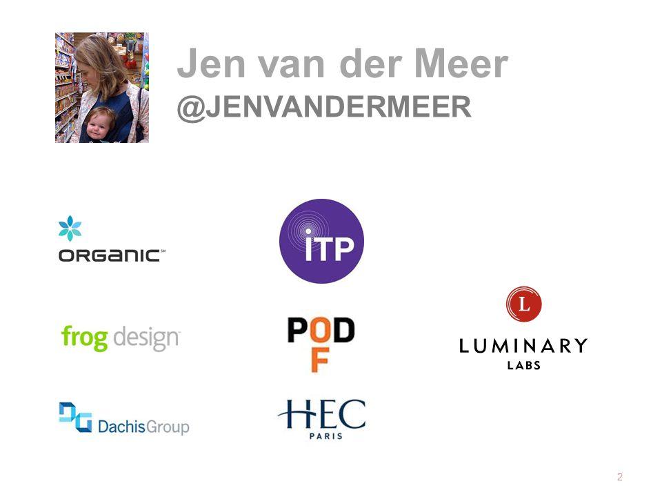 2 Jen van der Meer @JENVANDERMEER