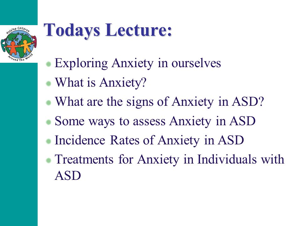 Todays Lecture: Exploring Anxiety in ourselves What is Anxiety.