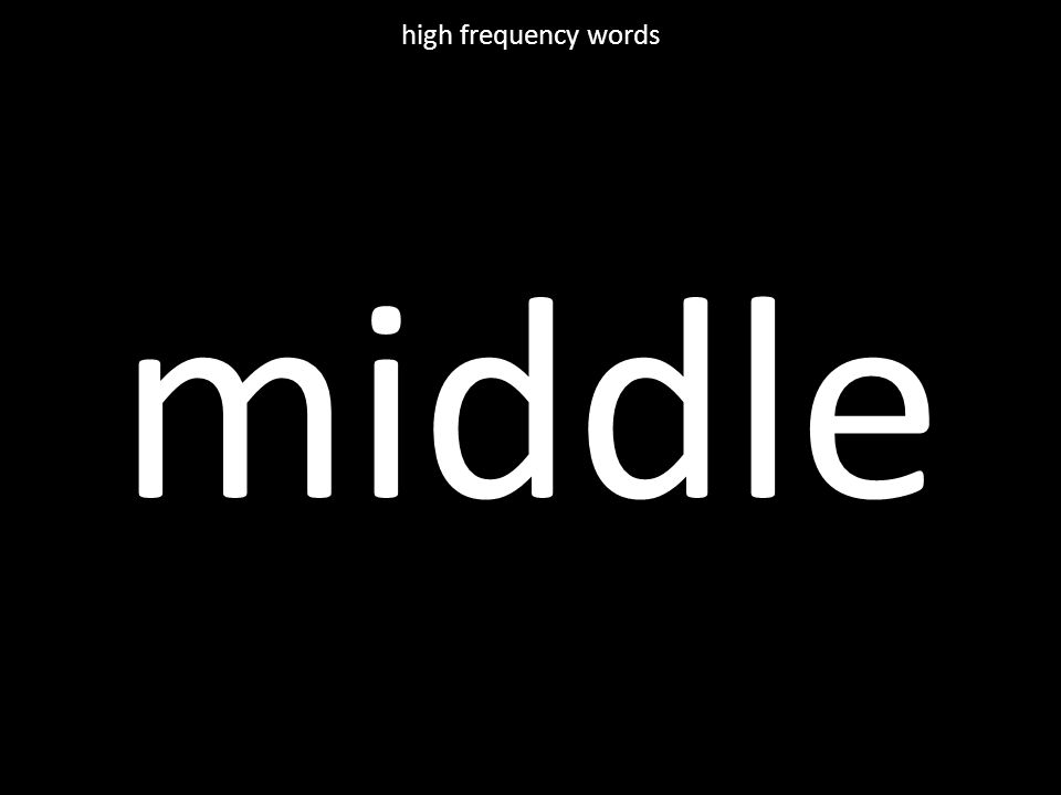middle high frequency words
