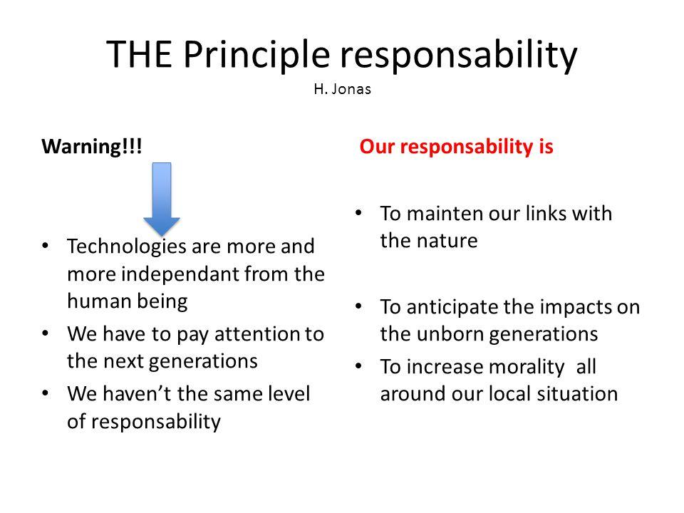 THE Principle responsability H.Jonas Warning!!.