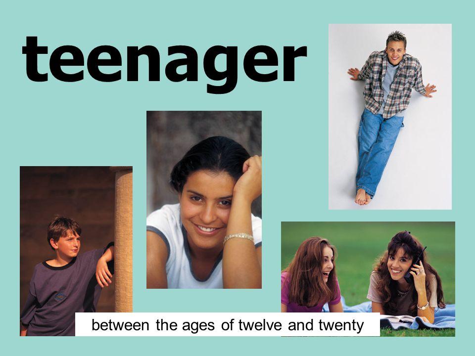 teenager between the ages of twelve and twenty