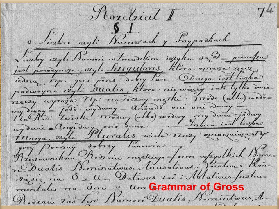 Grammar of Gross