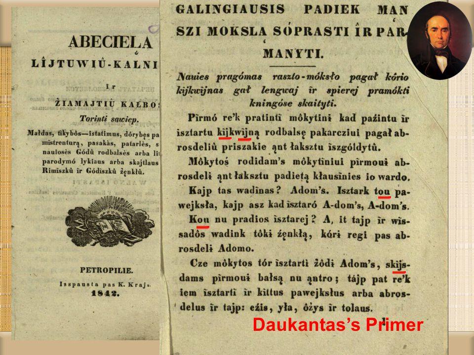 Daukantas's Primer