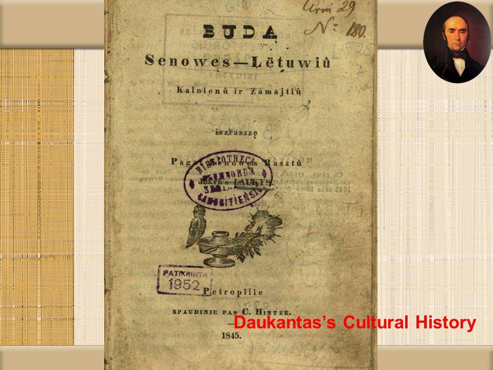 Daukantas's Cultural History