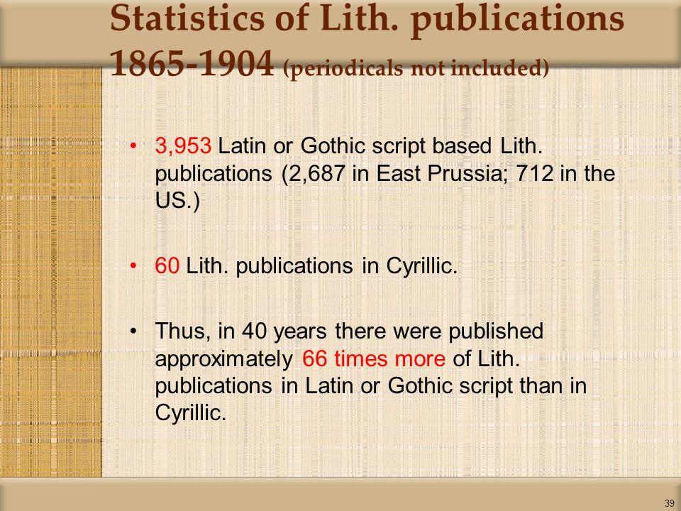 39 Statistics of Lith.