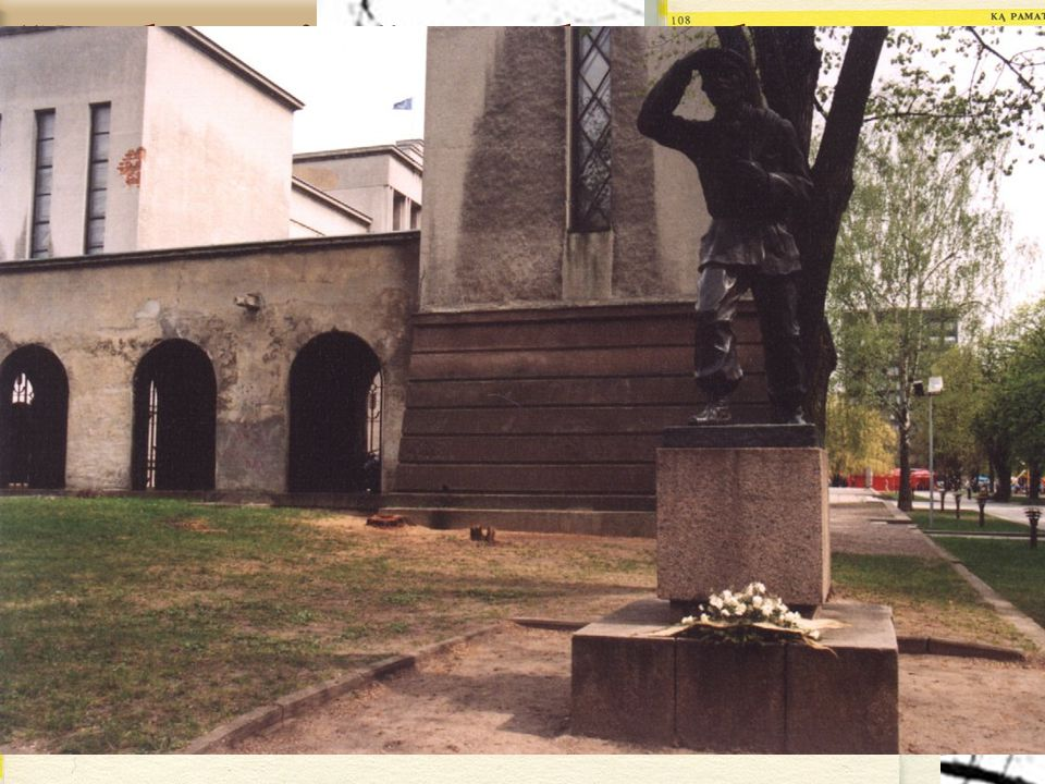 45 J. Zikaras 1881–1944 Sculpture is located in Kaunas, the second largest city of Lithuania.