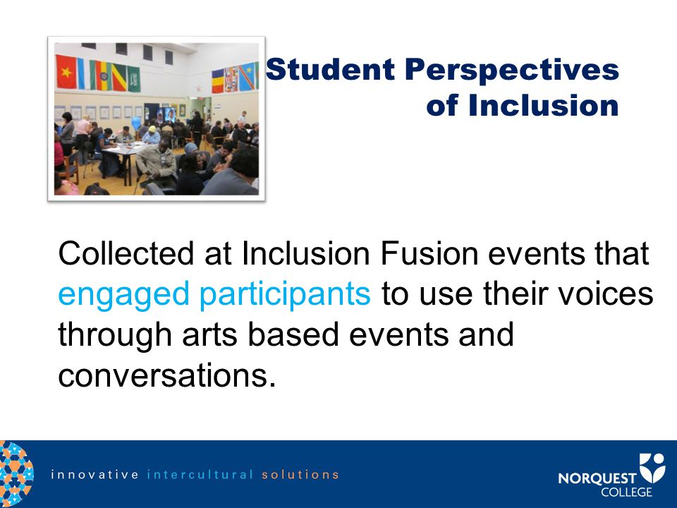 Using our Action Model in Student Intercultural Encounters Mar 2011 Mar 2012 Summer 2012 Inclusion Fusion Art of Inclusion Sign a Banners – Racism Fre