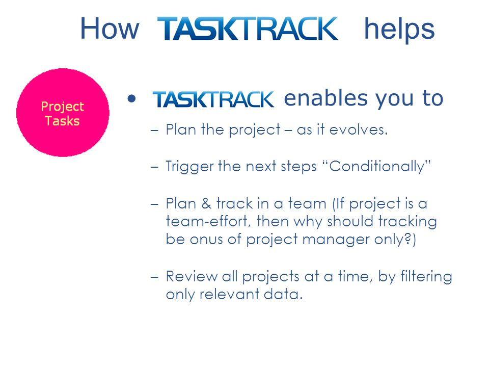 enables you to –Plan the project – as it evolves.