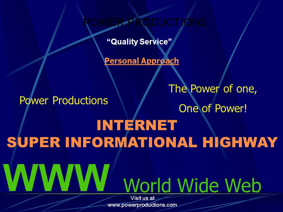 Visit us at www.powerproductions.com Clients I am proud to list these websites as my clients.